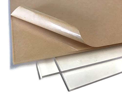 ((3 Pack) 12x12 Premium Clear Acrylic Sheet 1/8