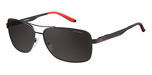 Carrera Men's CA8014S Polarized Rectangular Sunglasses, Matte Black & Gray Polarized, 61 - Sunglasses Carrera Polarized