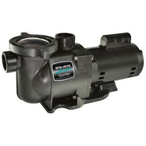 Pentair Sta-Rite N1-1A HP SuperMax Standard Efficient Single Speed High Performance Inground Pool Pump, 1 HP, 115/230-Volt ()