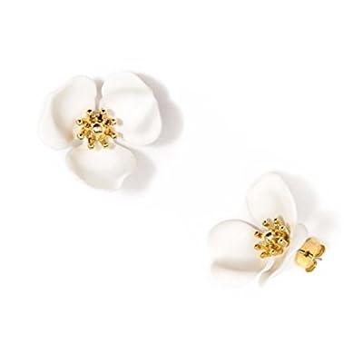 """Nice Zenzii """"Blooming Lotus"""" Stud Earrings -White supplier"""