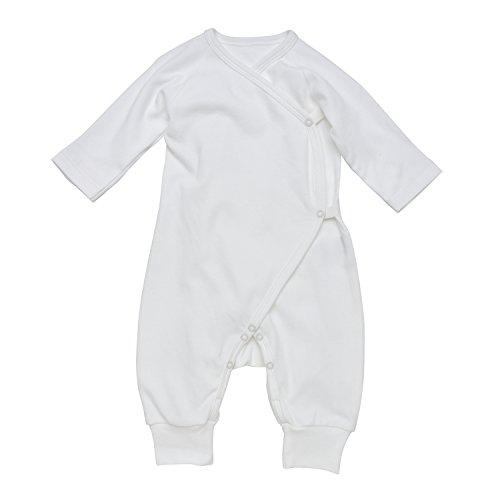 (Under the Nile Baby Unisex Long Sleeve Side Snap Kimono Size 0-3M Ivory Organic Cotton)