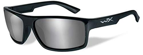 WileyX PEAK Safety Glasses Unisex Full Rimmed Plastic Frames with Polarized Lenses in Wraparound Shape Offered in Matte Black, GLOSS LAYERED TORTOISE & GLOSS BLACK COLOR