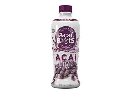 Acai Roots Pure Acai Juice, 32-Ounce Bottles (Pack of 3) ()