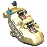 brembo(ブレンボ) 4ピストンキャリパー 左 ゴールド 4POT・キャスティング(鋳造)タイプ・4PADタイプ 20.7850.11