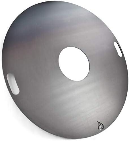 Grillrost.com Das Original Plaque à feu 80 et 100 cm et Accessoires pour Les canons à feu et Les grilles à Boules, Größe:Feuerplatte Ø 80cm