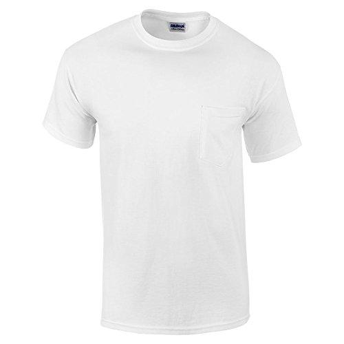 Gildan Mens 6.1 oz. Ultra Cotton Pocket T-Shirt G230 -WHITE S