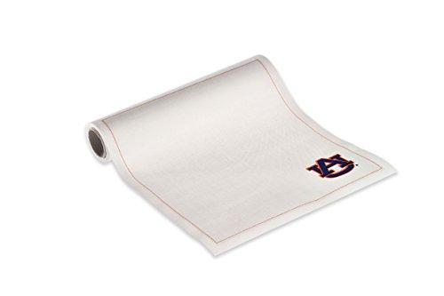 "MYdrap SA21/101-AU Collegiate Cotton Luncheon Napkin, 8.0"" Length x 8.0"" Width, Ecru with Auburn Logo (12 Rolls of 12)"