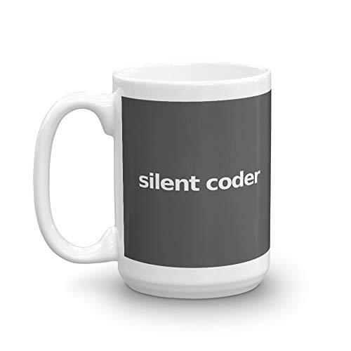 Silent Coder - Gray 15 Oz White Ceramic (Best Sentiment Analysis Python)