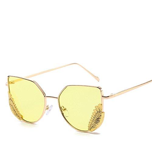 NO6 De Personalidad Gafas No3 Moda Sombrillas Películas De Street Shooting Oceánicas Trekking Metal Viajes Dama RinV Sol Alas Gafas Sol vIUpxqz
