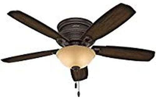 Hunter 53355 tradicional gauba Onyx Bengala Ventilador de techo ...