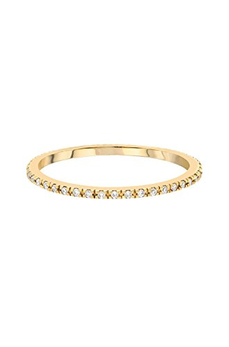 14k gold diamond eternity band by Zoe Lev Jewelry