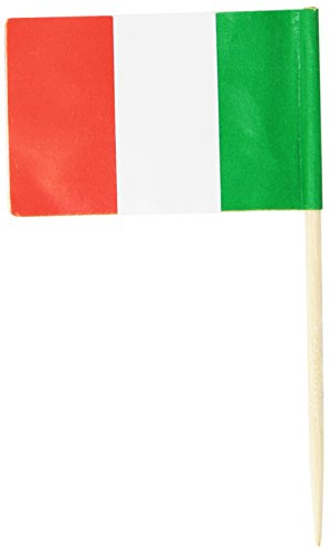 Beistle 60111 Italian Flag Picks 2.5-Inch (50-Count) , Red/Green/White ()