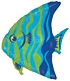 "Single Source Party Supplies - 27"" Angel Fish Balloon Mylar Foil Balloon"