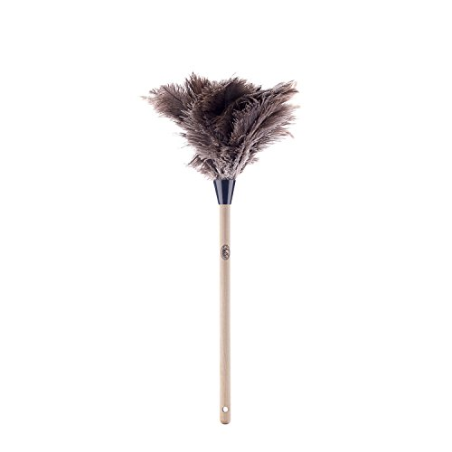 Fuller Brush Ostrich Feather Duster - Long Handled Dusting Hair Feathers for Cleaning High Cobweb & Dust - Cleaner Blinds, Car Dash, TV, Fan & Computer for Home & Business