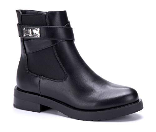 4 Damen Stiefeletten Schuhe Boots Stiefel Schwarz cm Klassische Schuhtempel24 Blockabsatz 6qH0wBpp