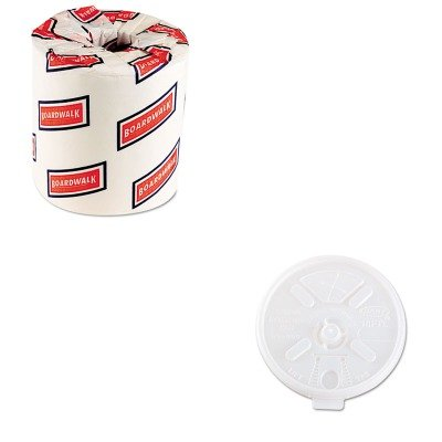 KITBWK6180DRC16FTLS - Value Kit - Dart Translucent Lids for 12-24oz Foam Cups (DRC16FTLS) and White 2-Ply Toilet Tissue, 4.5quot; x 3quot; Sheet Size (BWK6180) (Toilet Paper Foam)