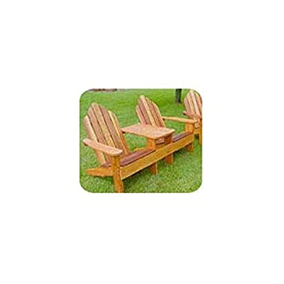 Woodworking Project Paper Plan to Build Classic Adirondack Tete-a-Tete by Woodcraft Supply