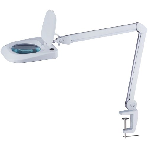 - Omano LED Magnifying Lamp (2x Magnifier) Professional Desktop, Reading, Hobby, and Task Use | Adjustable Arm, Bright Daylight Lighting | Clear 6