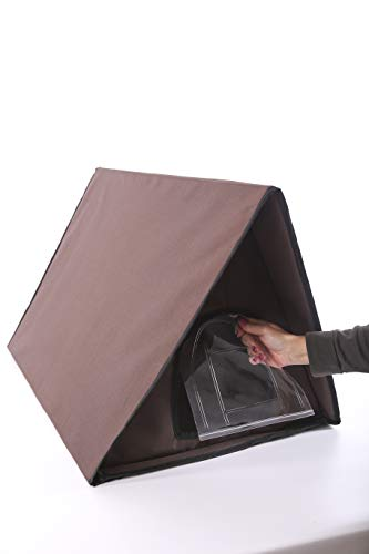K&H Pet Products Outdoor Kitty House Multi-Kitty A-Frame (Unheated) Chocolate 35 x 20.5 x 20