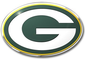 Green Bay Packers Color Auto Emblem - Die (Green Bay Packers Auto Emblem)