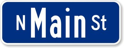 Customized Sign (white on blue), 2-Sided Diamond Grade Reflective Aluminum Street Sign, 18'' x 9'' by RoadTrafficSigns