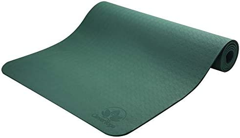 Antideslizante Esterilla de yoga–más larga y ancha que otros alfombrillas de ejercicio–1⁄ 10.2cm de grosor acolchado de alta densidad para evitar dolores de rodillas durante el Pilates, estiramientos y tonificación–para Hombres y Mujeres–desde Clever Yoga 3