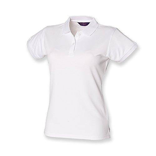 Henbury Coolplus, Polo da donna, colore: colori assortiti, colore: bianco, misura XL