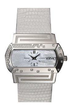 Versace Hippodrome Mother of Pearl Diamond Ladies Watch PSQ91ND001SL01