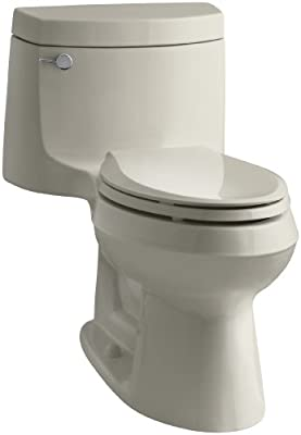 Kohler K-3828-G9 Cimarron Comfort Height Elongated Toilet, Sandbar, 1-Piece