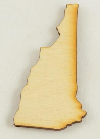 Wood New Hampshire - CMNH New Hampshire State Cutout Size:Large 12.75