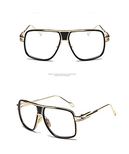 con Transparente Unisex Mujer Ligero Hombre UV400 Gafas Gafas para Montura de Metal Sol Polarizadas de Lente Súper Espejo Vintage Gafas de Sol Fliegend A Retro FZnxgwn