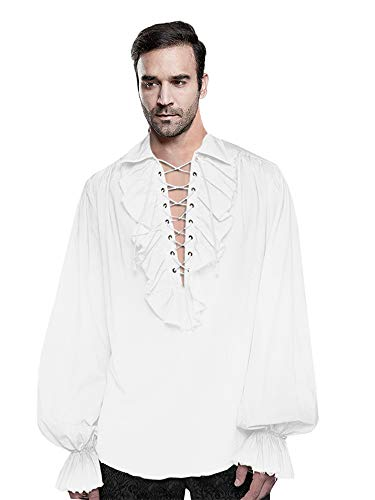 Pirate Shirt - Mens Medieval Gothic Shirt Renaissance Viking