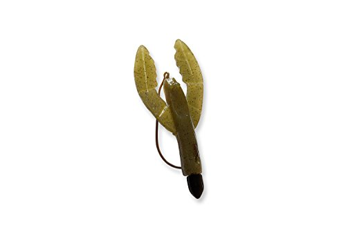 C TO C BAIT COMPANY Mendota Rig Craw Fishing Lure - Freshwater or Saltwater Use, Plastic, Green Pumpkin/Black
