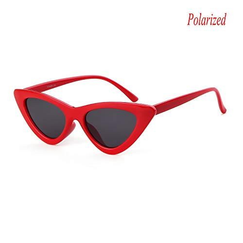 acab8fccab Gifiore Retro Vintage Cateye Sunglasses for Women Clout Goggles Plastic  Frame Glasses