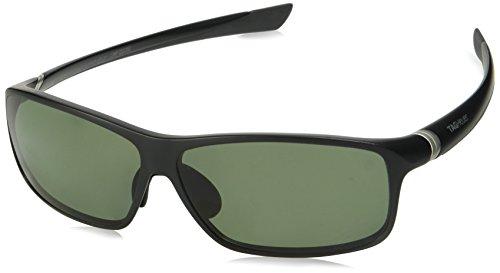 TAG HEUER 66 6024 301 661203 Polarized Square Sunglasses, Black, 54 mm