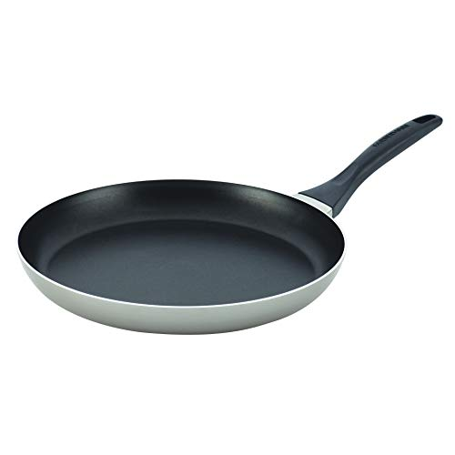 Farberware Dishwasher Safe Nonstick Aluminum 12-Inch Shallow Skillet, Champagne