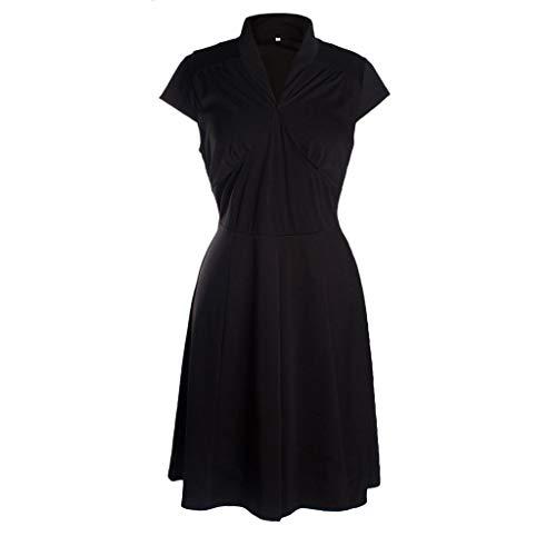 Sagton Swim Dress Women Grace Sleeveless Mini Skater DressBy (Black,S) (Grace Mini Dress)