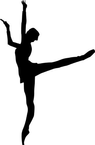 Arabesque Ballet Stencil 02 - 6 inch (at longest point) - 7.5 mil standard