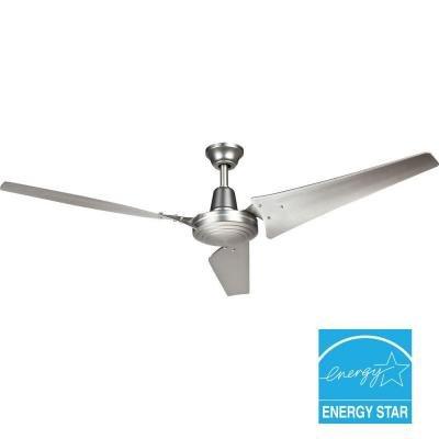 Hampton Bay Industrial 60 In. Indoor Brushed Steel Energy Star Ceiling Fan by Hampton Bay by Hampton Bay