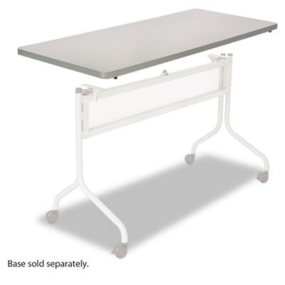 Series Mobile Rectangular Training Tables - Impromptu Series Mobile Training Table Top, Rectangular, 48w x 24d, Gray, Sold as 1 Each