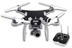 JWraps Original Black Carbon (DPBC) Custom Designed Protective Vinyl Skin Wrap for DJI Phantom 3 Professional Quadcopter Drone