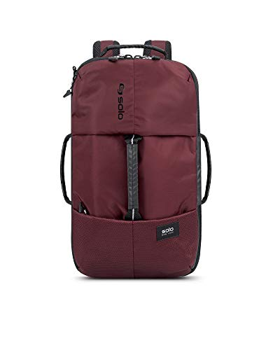 Solo All-Star Hybrid Backpack, Burgundy (Backpacks Solo)
