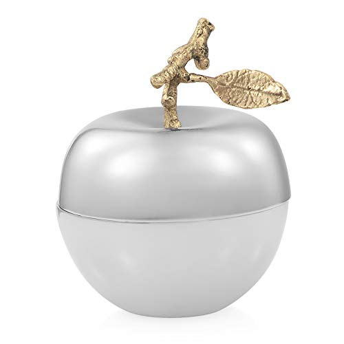 Shop LC Delivering Joy Silvertone Metallic Apple Filled with Vanilla Wax Aromatherapy Scented Decor Candle 5x3