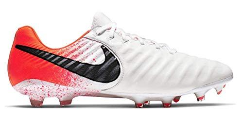 Nike Men's Legend 7 Elite FG Soccer Cleat (Sz. 11) White, Black, Hyper Crimson (Nike Elite Soccer)