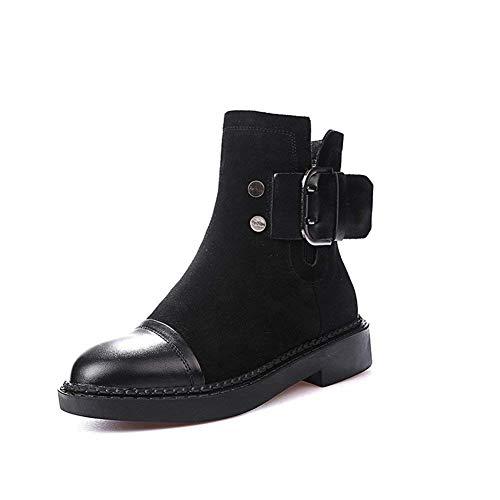 nero Inverno E Donne Eu Anti 's Buckles 37 Shoes Pu 39 Slip Boots Eu Sed Short Zipper Autunno ZgqPwwx7