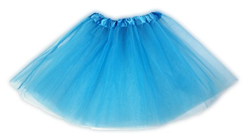 Tutu Ballet Party Dress Skirt for Girls and Toddlers - Ballerina or Princess Dress Up Pretend Play Costume (Light (Blue Ballerina Costumes)