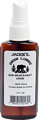 Jackies Deer Lures Sow Bear-N-Heat Hunting Scent, 2 oz