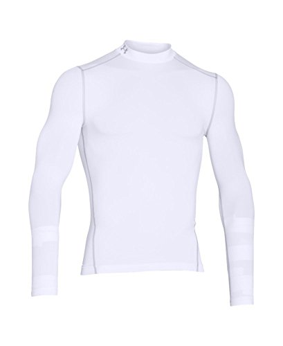 Under Armour Men's ColdGear Armour Compression Mock Long Sleeve Shirt, White (100)/Steel, XXX-Large by Under Armour (Image #3)