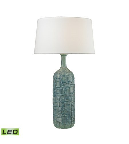 Table Lamps 1 Light with Blue and White Wash Glaze Ceramic Medium Base 35 inch 9.5 Watts