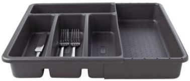 Made Smart 50604 Expanding Cutlery Tray-Granite Organizer, Plastic